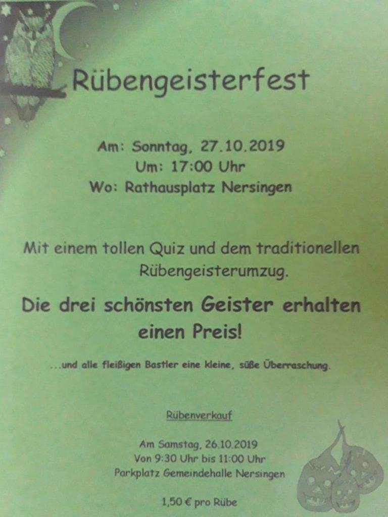 Rübengeisterfest 2019